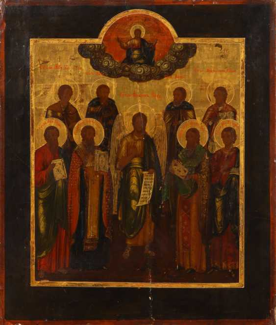 Icon with Christ and the saints. - photo 1