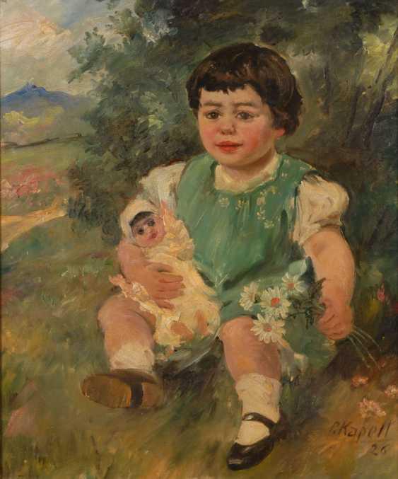 CHAPEL, Paul: children-portrait with doll. - photo 1