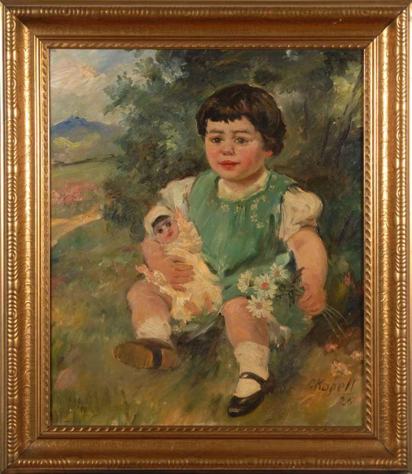 CHAPEL, Paul: children-portrait with doll. - photo 2