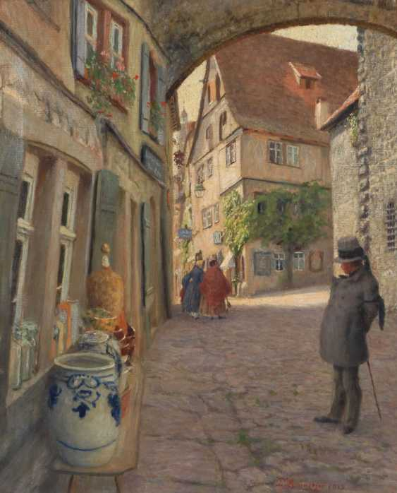 LUMNITZER, Paul: old town alley with Staf - photo 1