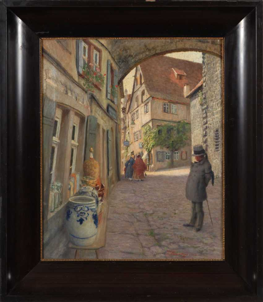 LUMNITZER, Paul: old town alley with Staf - photo 3
