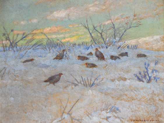 MAZURKIEWICZ, J. P.: partridges in the snow - photo 1