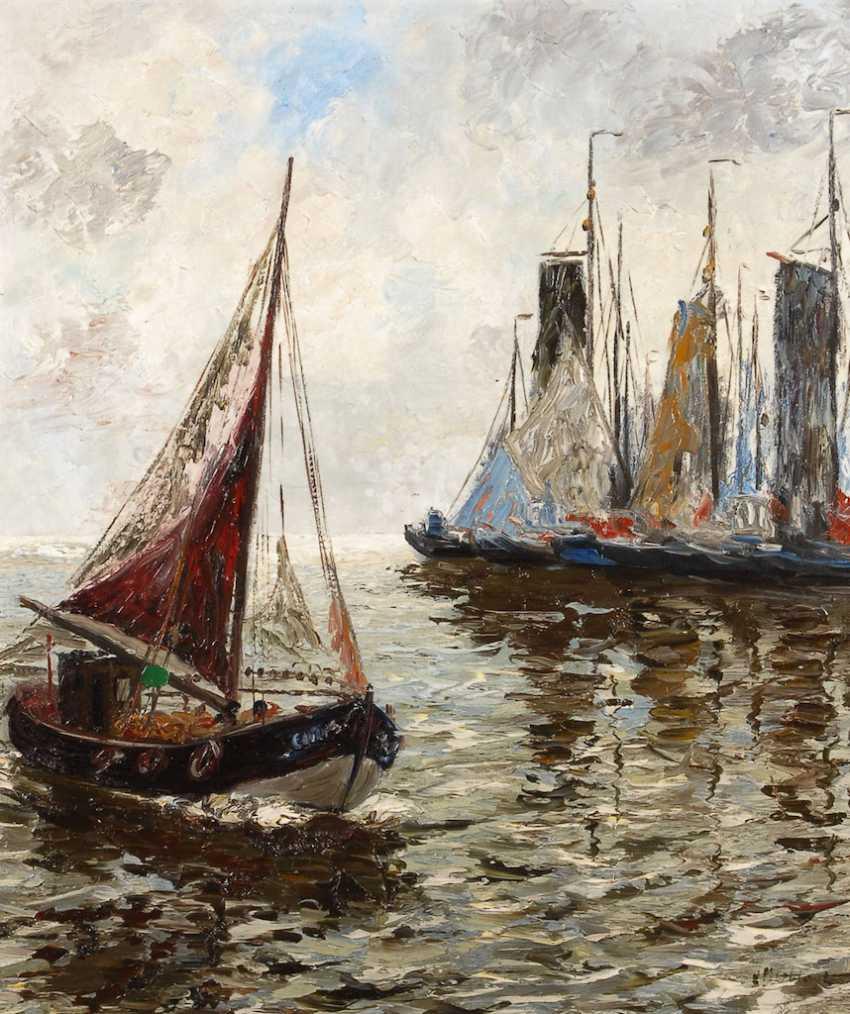 MOSBLECH, Carl Wilhelm: Fischerboote au - Foto 1