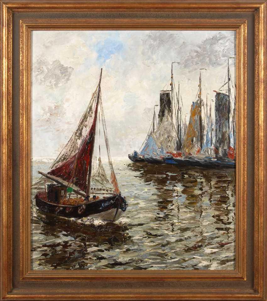 MOSBLECH, Carl Wilhelm: Fischerboote au - Foto 2