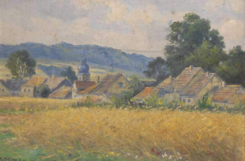 OEHLER, Max: a view of the village Schwarza B - photo 1
