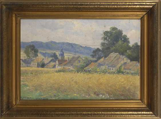 OEHLER, Max: a view of the village Schwarza B - photo 2