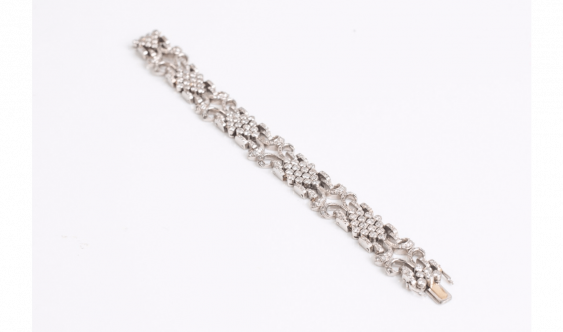Soft strap white gold (750 thousandths) with decoration