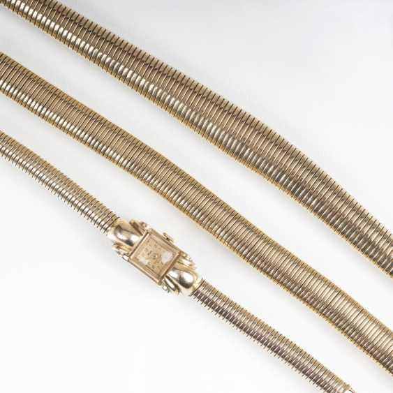 Paris Gold-jewelry: women's wrist watch, necklace and bracelet - photo 2