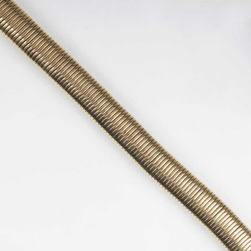 Paris Gold-jewelry: women's wrist watch, necklace and bracelet - photo 3