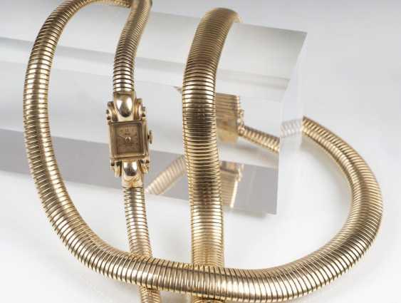 Paris Gold-jewelry: women's wrist watch, necklace and bracelet - photo 6