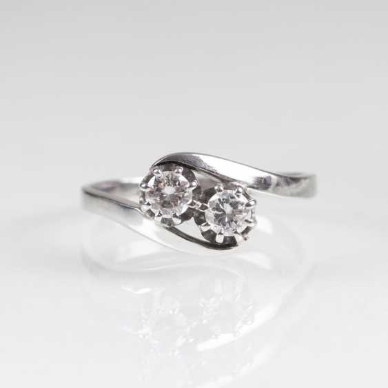Toi-et - Moi Ring with two brilliant-cut diamonds - photo 1