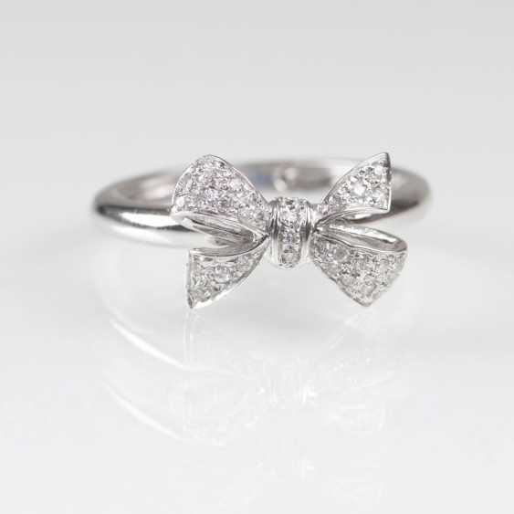 Delicate diamond Ring with loop-decor - photo 1
