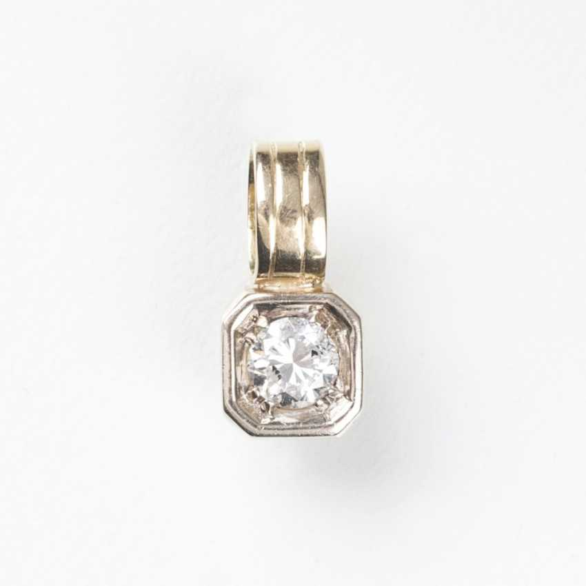 Pendant with solitaire - photo 1