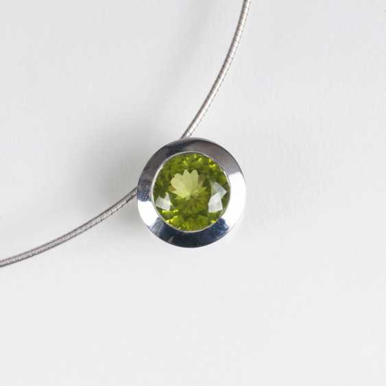 Modern Peridot pendant with necklace - photo 1