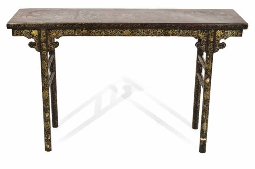 TABLE WITH PAINT DECORATION, - photo 1