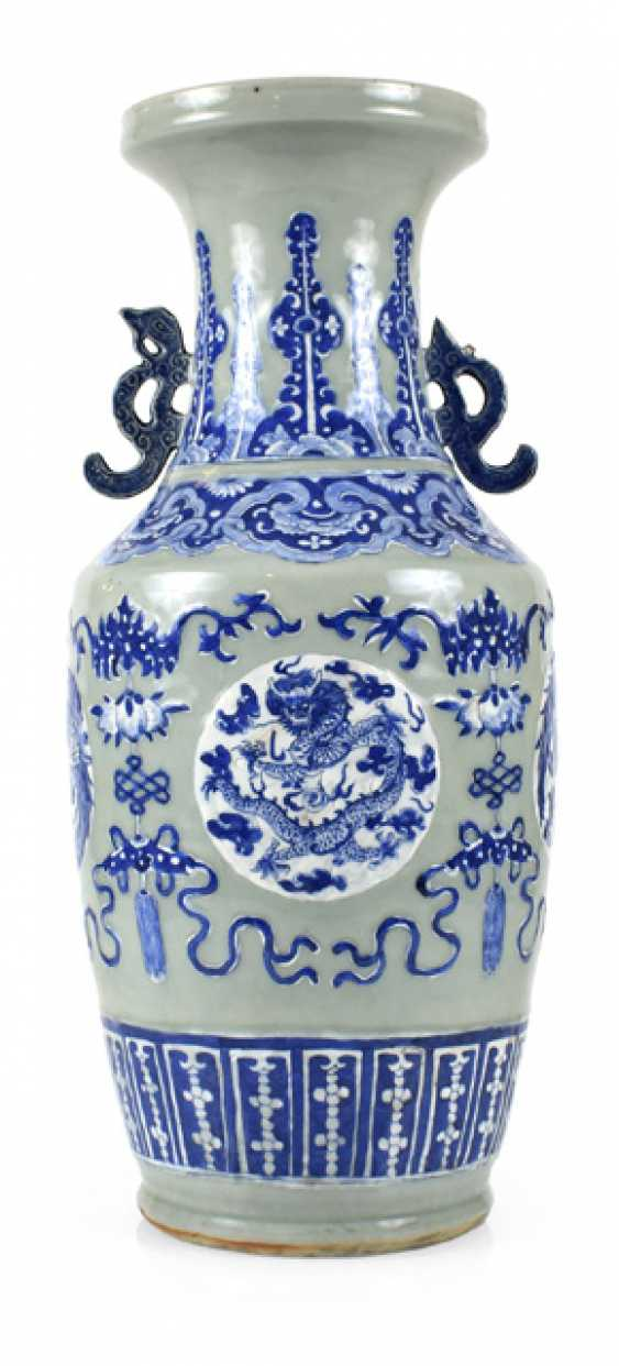 VASE WITH BLUE-AND-WHITE - photo 1