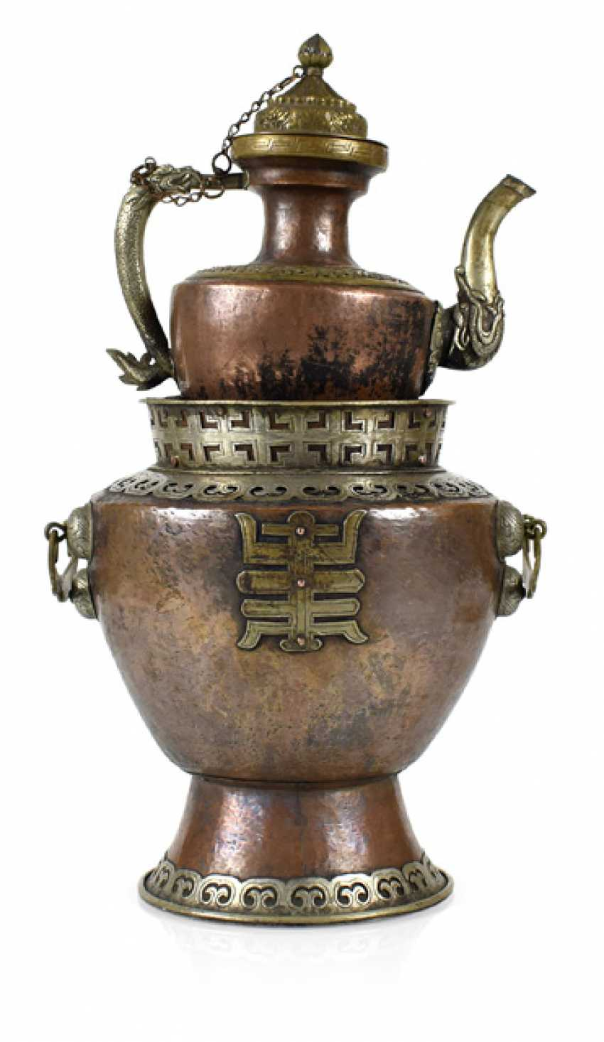 JUG WITH SET OF COPPER - photo 1