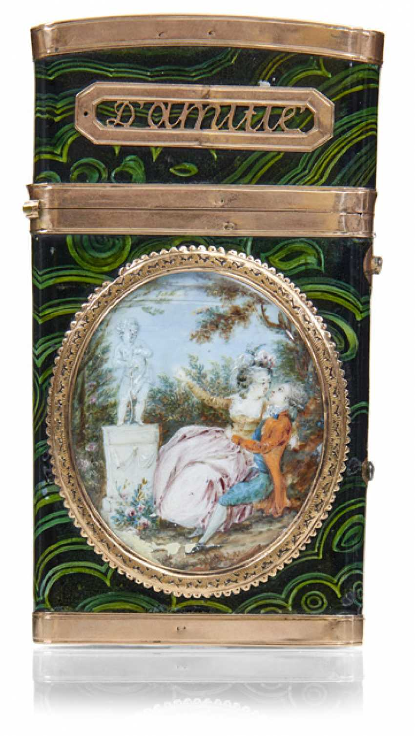Toiletry travel bag with miniature paintings - photo 1