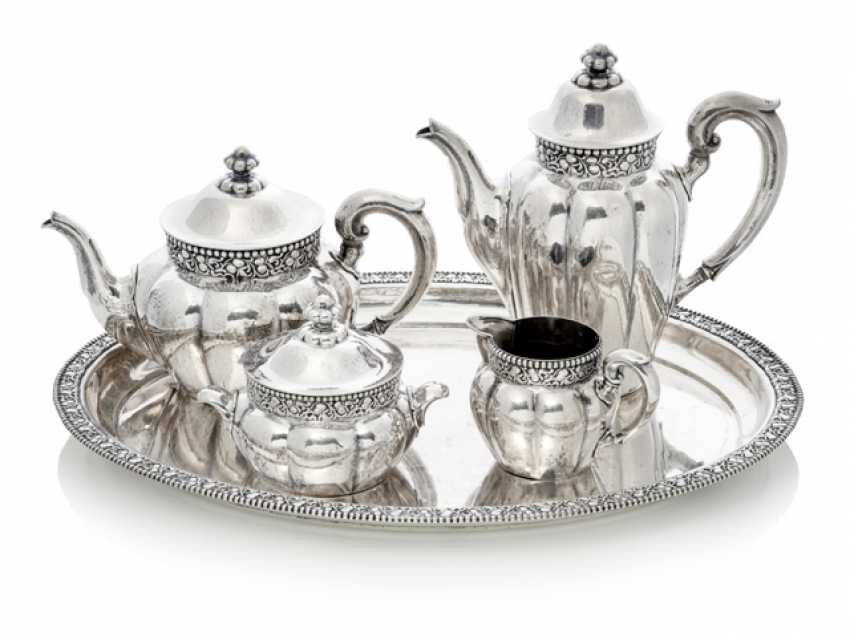 Coffee tea Service with tray - photo 1