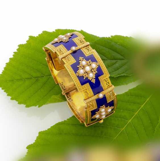 Feines Gold-Email-Armband - photo 1