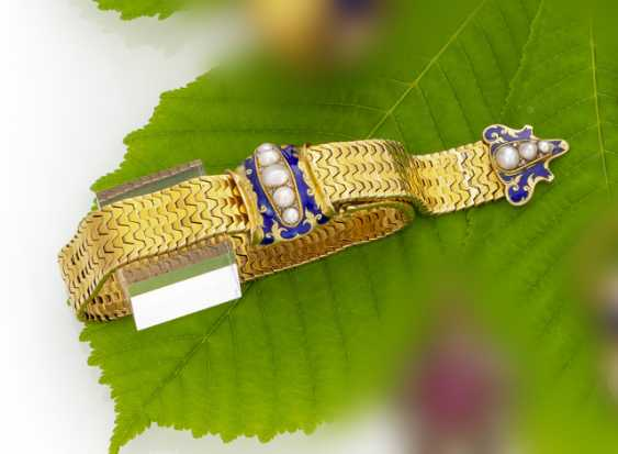 Late-Biedermeier Gold Enamel Bracelet - photo 1