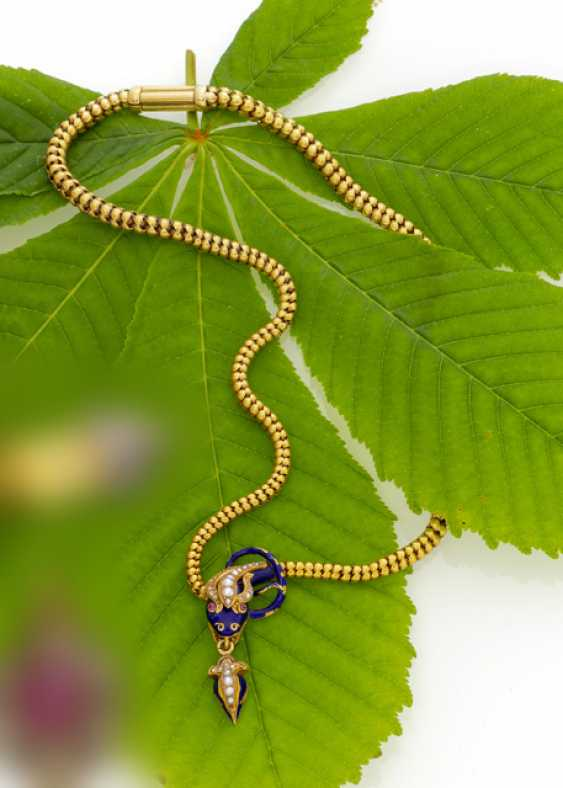 Beautiful Victorian Snake Necklace - photo 1