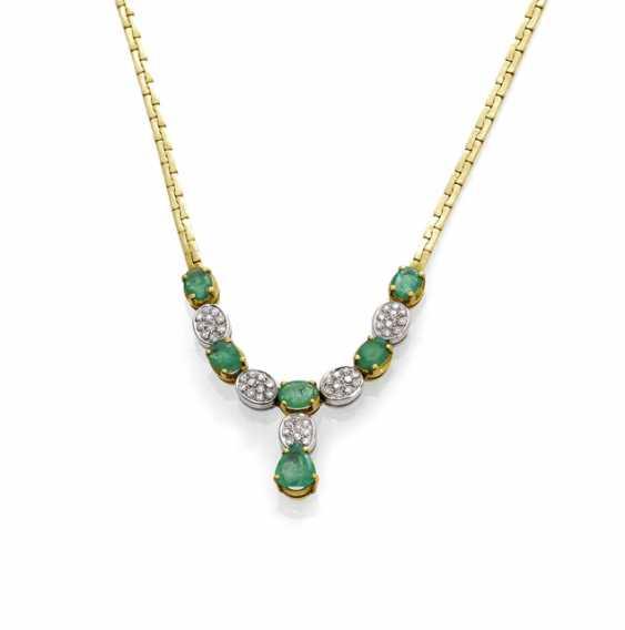 Emerald And Diamond Necklace - photo 1