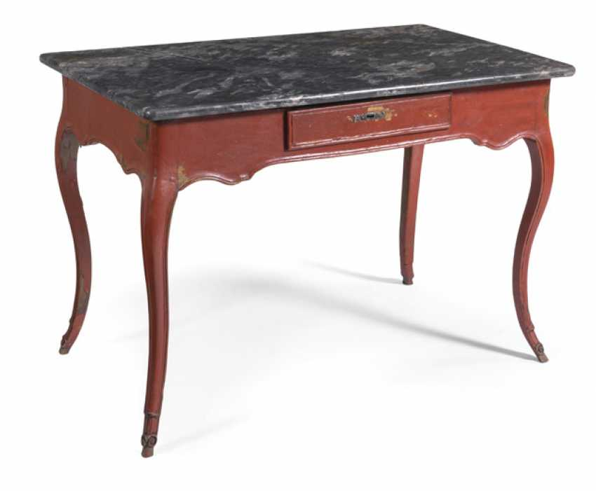 Rococo table with marble top - photo 1