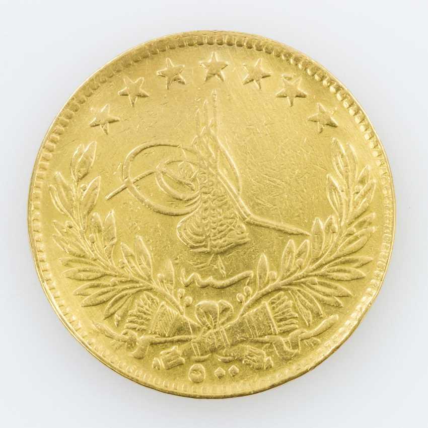 Egypt, Gold 500 piastres 1918, Muhammad VI.