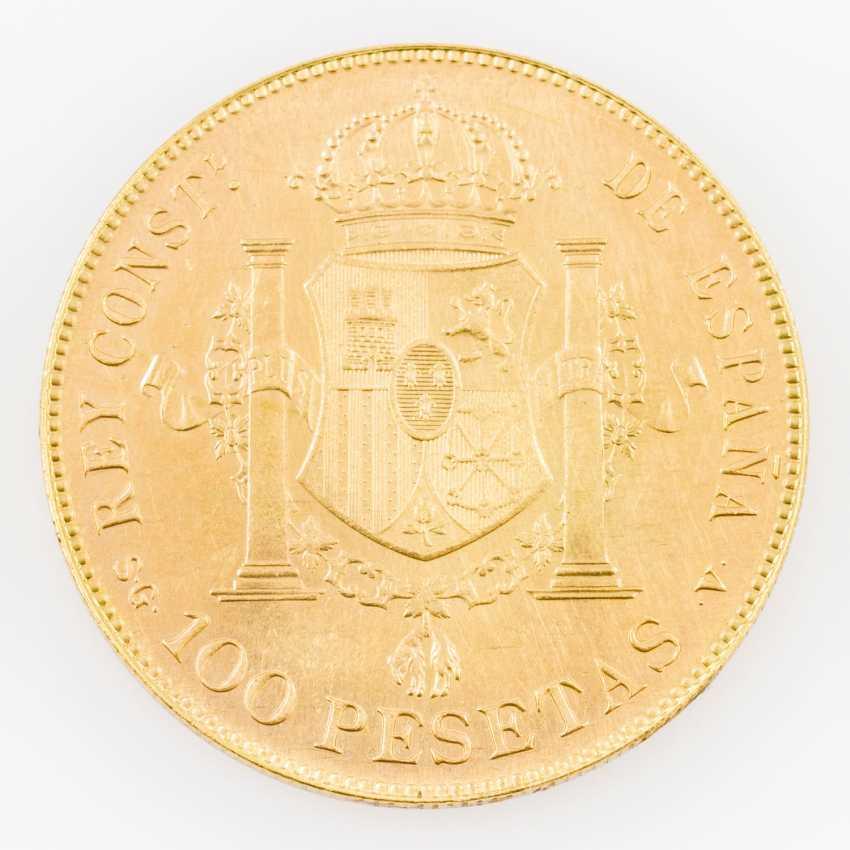 Spanien/Gold - 100 Pesetas 1897 (NP 1962), Alfonso XIII.