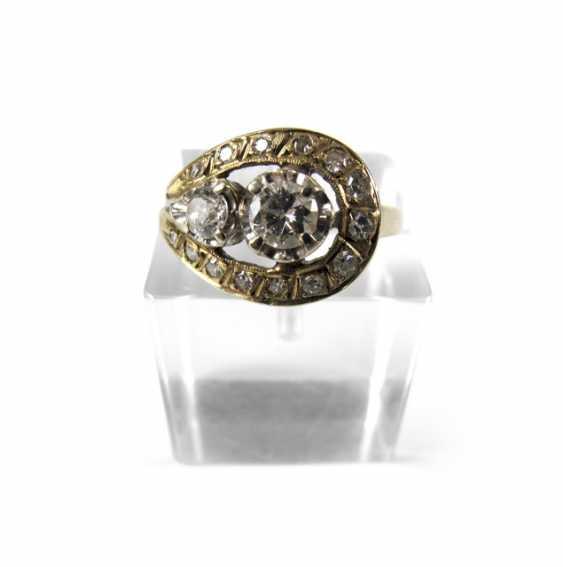 DIAMANT-RING, 18KT Gelbgold, - photo 1