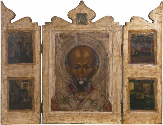 Three-wing icon of the Saint. Nicholas - photo 1