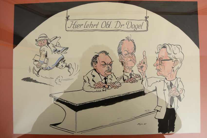 Konrad Kujau 5 Political Satire Drawings Polychr Drawing On
