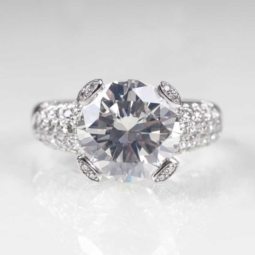 High-profile solitaire Ring with brilliant-cut diamonds - photo 1