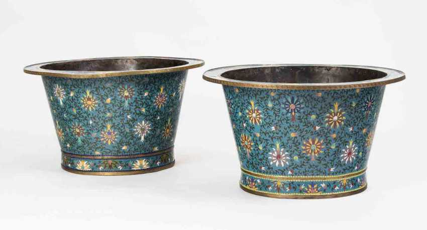 1 Pair of large Cachepots - photo 1