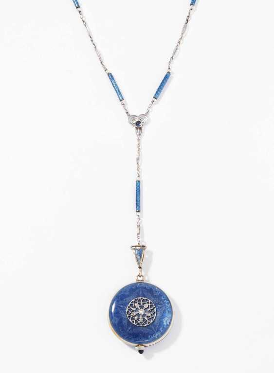 *Enamel pocket watch with enamel-beads-chain - photo 1
