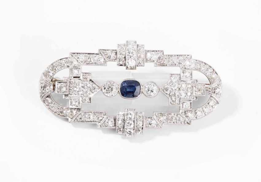 Sapphire And Diamond Brooch - photo 1