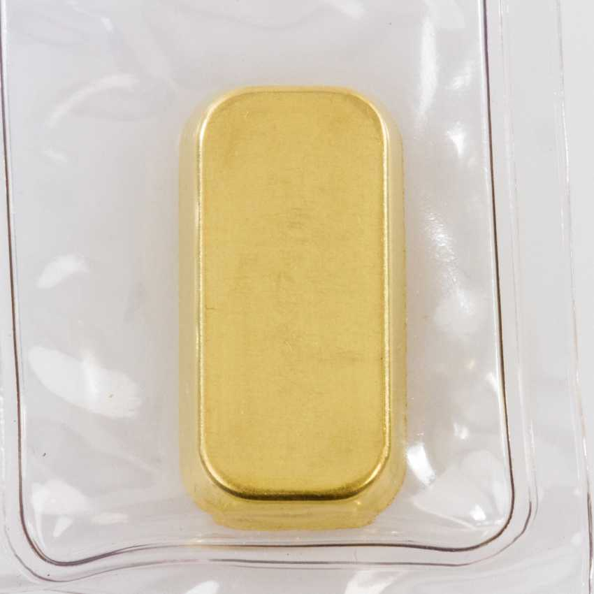 Gold bullion - 1 oz, manufacturer Degussa