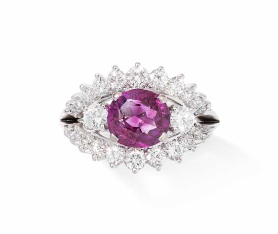 Burma-Saphir-Brillant-Ring - photo 1