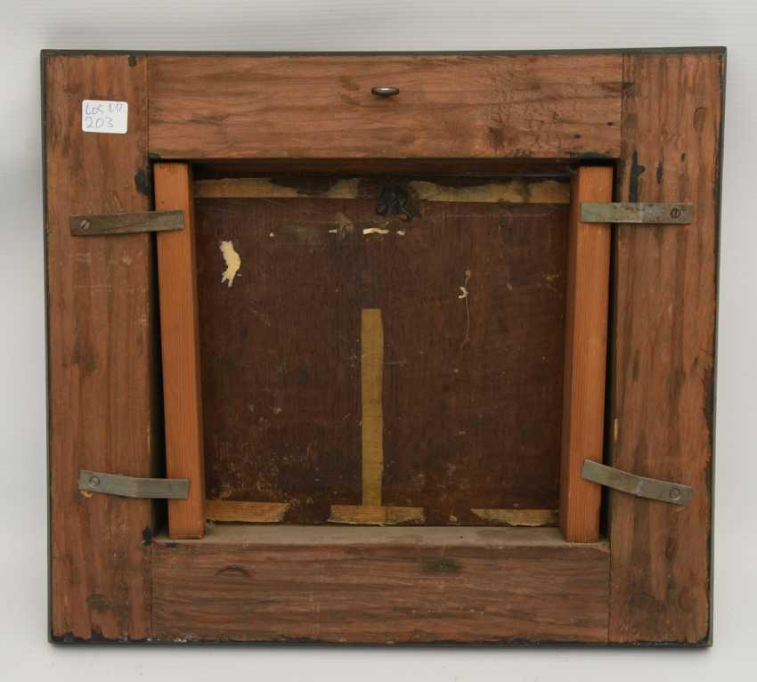 unbekannter maler bei der rast l auf holz gerahmt 2 h lfte 18 jahrhundert los 203. Black Bedroom Furniture Sets. Home Design Ideas