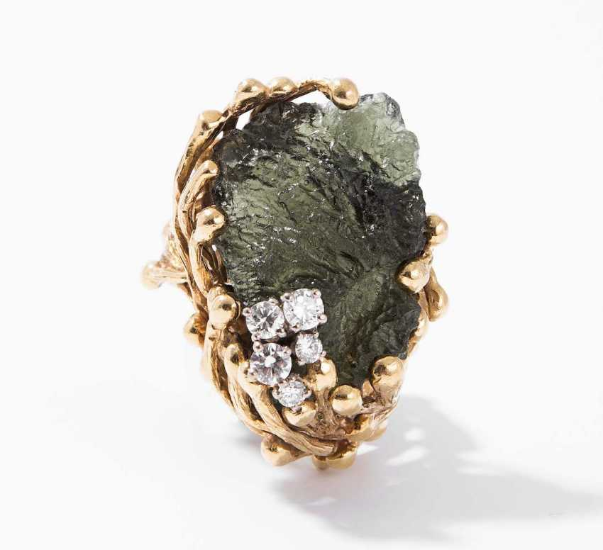 Gilbert Albert Moldavit-Brillant-Ring - photo 1