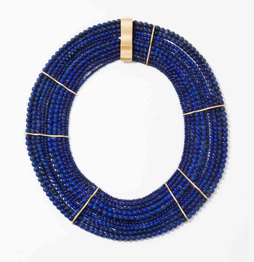 Lapislazuli-Gold-Collier - photo 1