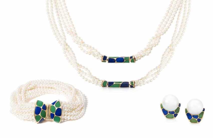 Beads-Lapis Lazuli-Chrysoprase-Set - photo 1