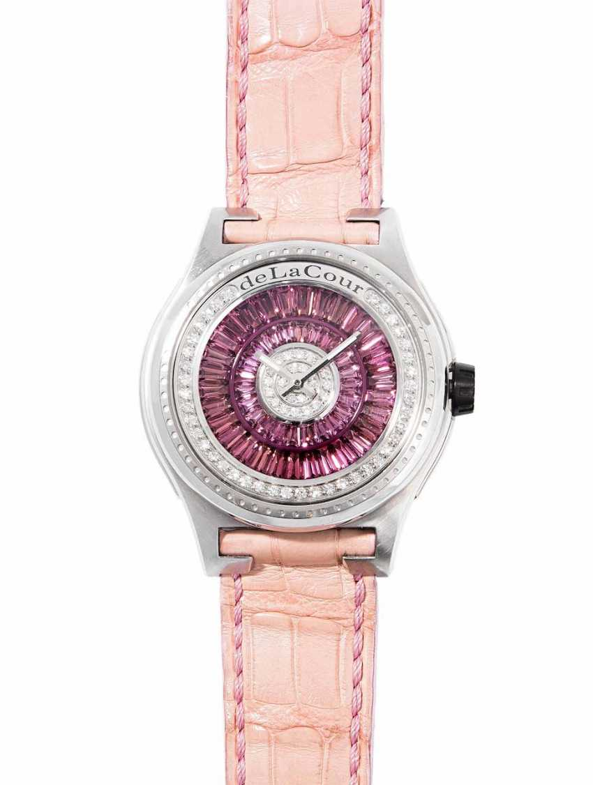 deLaCour diamond tourmaline ladies wrist watch - photo 1