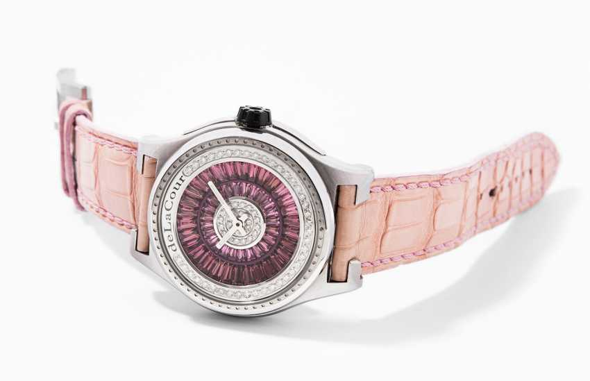 deLaCour diamond tourmaline ladies wrist watch - photo 3