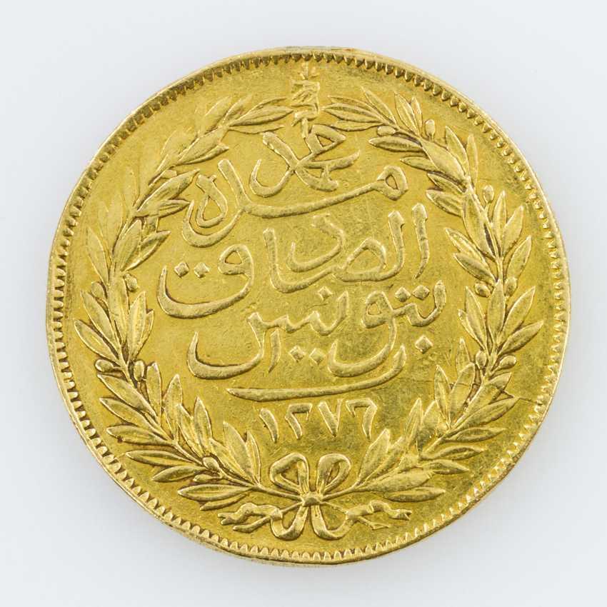 Tunesien (Tunis)/Gold - 100 Riyal (Piaster) 1859 - photo 1
