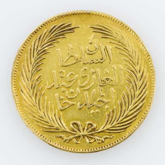 Tunesien (Tunis)/Gold - 100 Riyal (Piaster) 1859 - photo 2