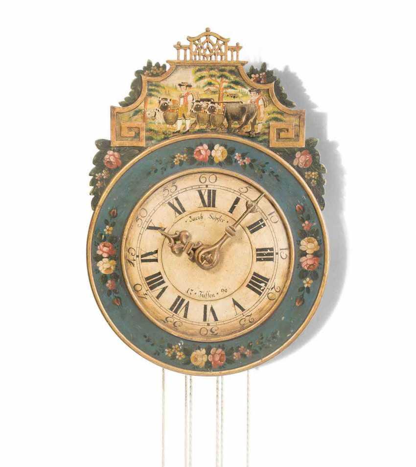 Appenzeller Wooden Wheels Wall Clock - photo 1