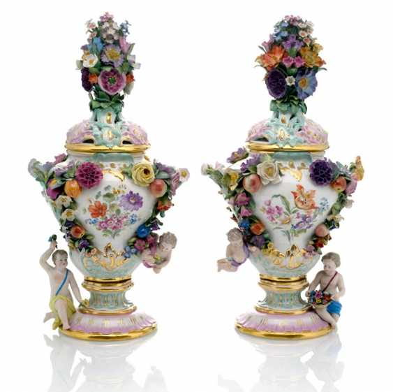Pair Of Ornamental Vases - photo 1