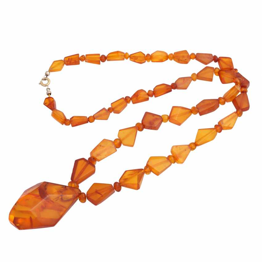 Set of 2 amber beads, - photo 2